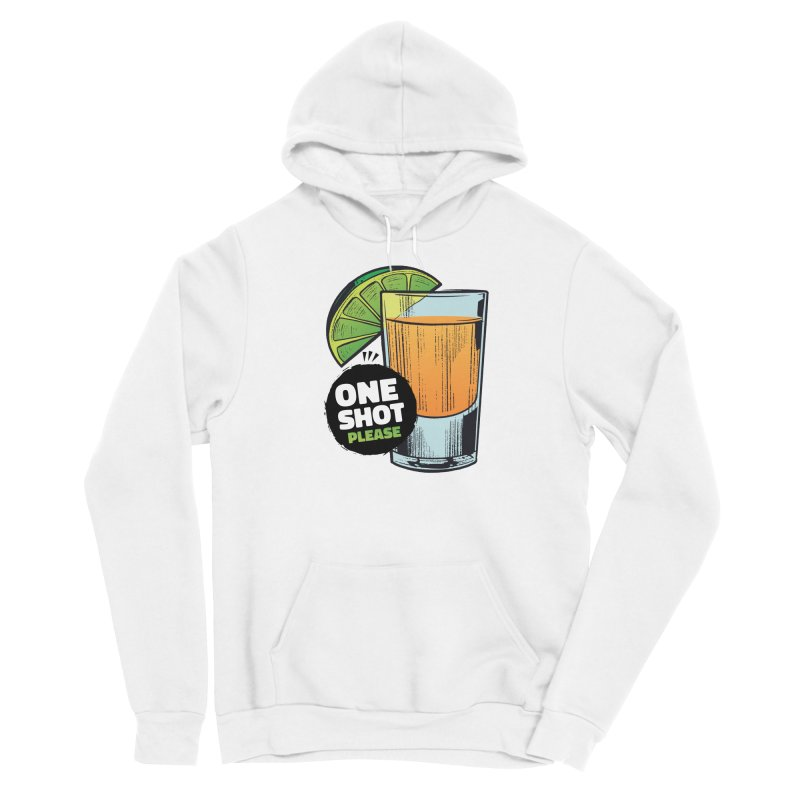 One Shot Please Men's Pullover Hoody by Drinking Humor