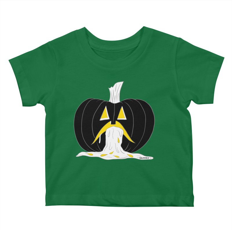 Puking Pumpkin Kids Baby T-Shirt by Dripface