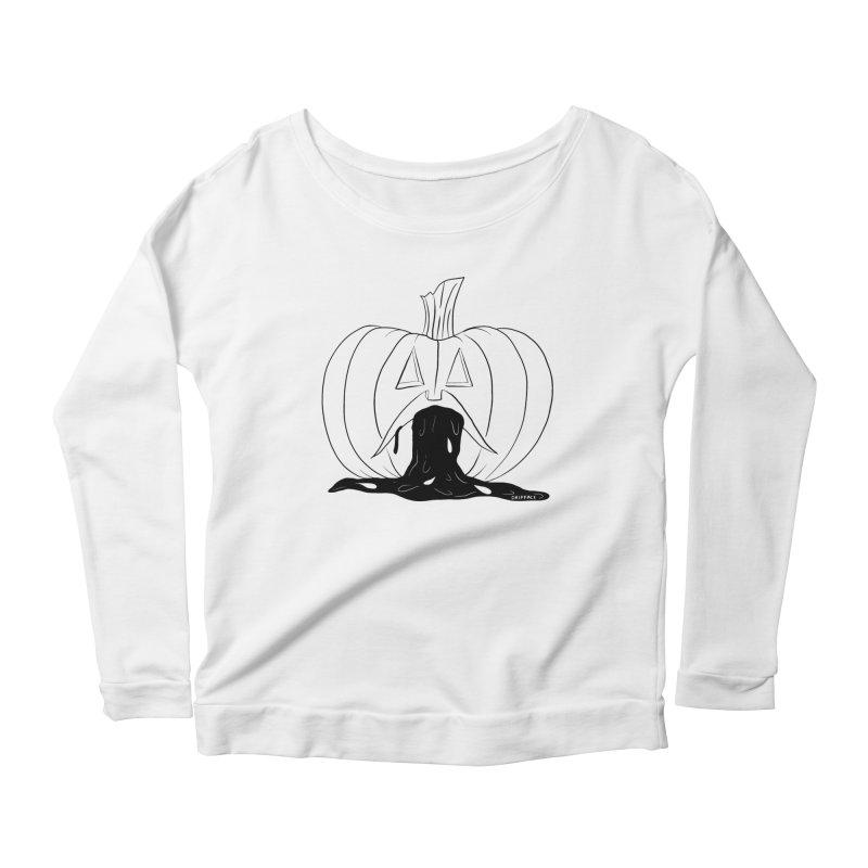 Puking Pumpkin v.2 Women's Longsleeve T-Shirt by Dripface