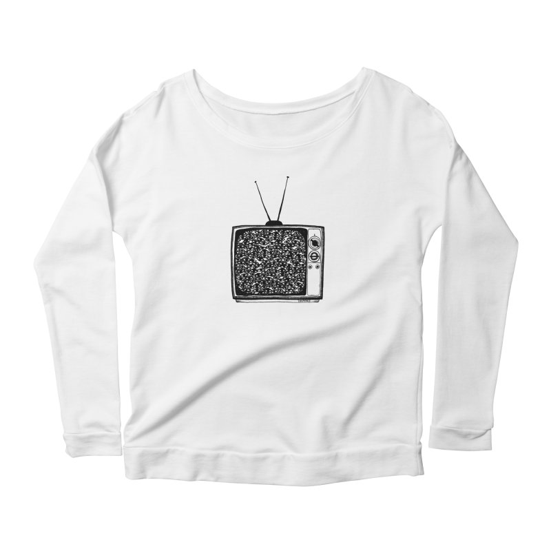 TV Set Women's Longsleeve T-Shirt by Dripface