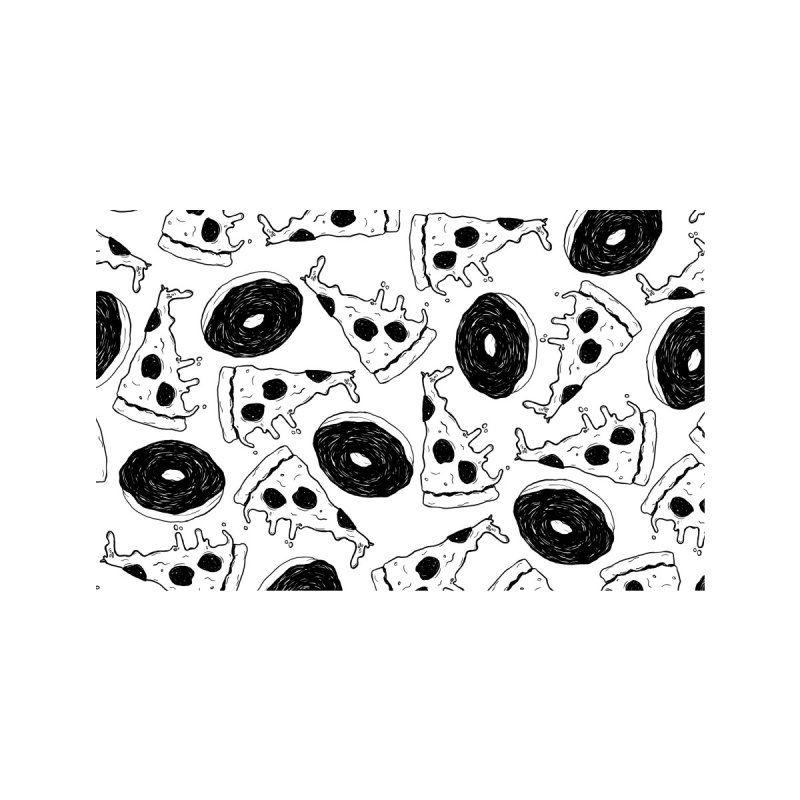 Pizza Donuts Home Rug by Dripface