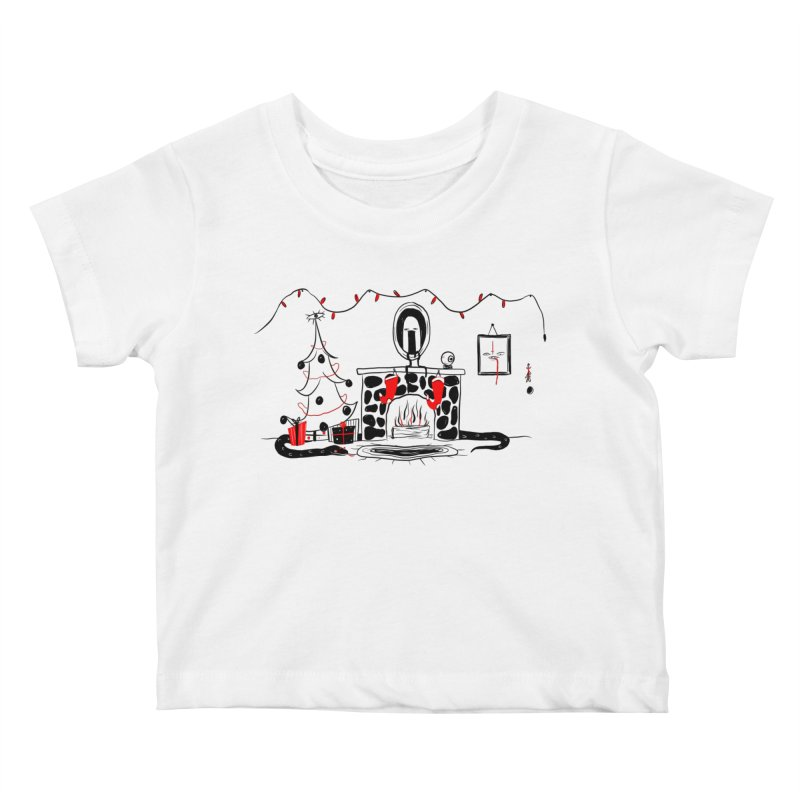 He's Always Watching Kids Baby T-Shirt by Dripface