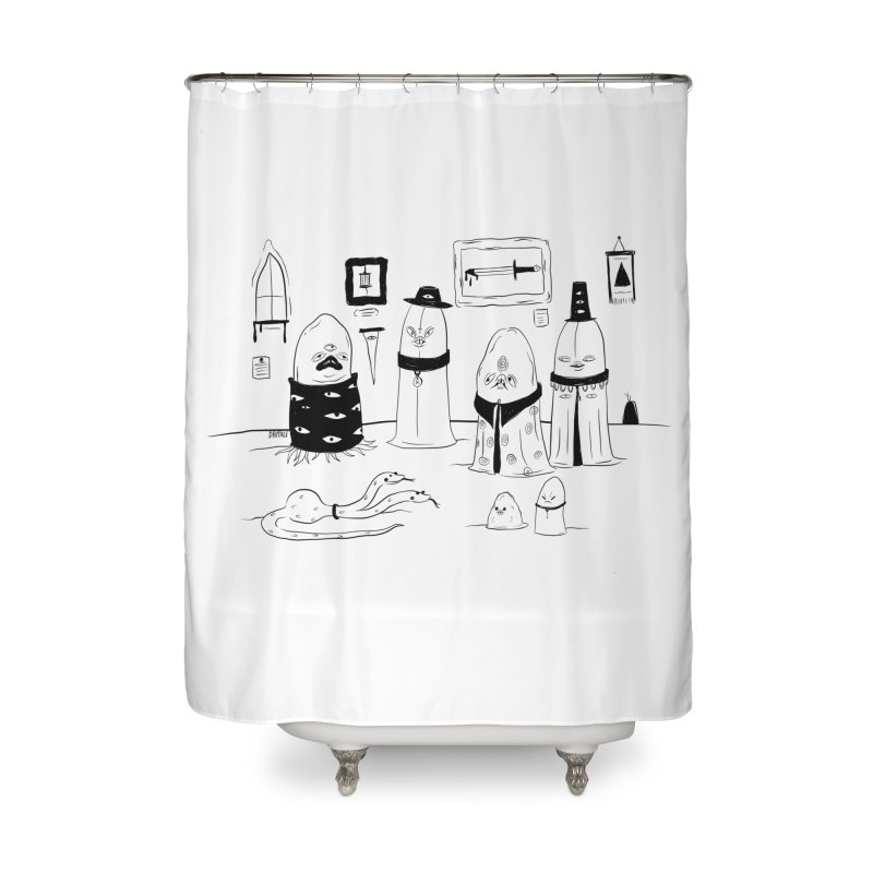The Feeding Home Shower Curtain by Dripface