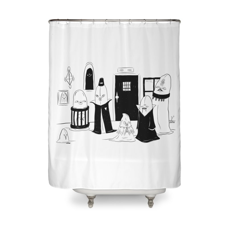Who Invited Us? Home Shower Curtain by Dripface