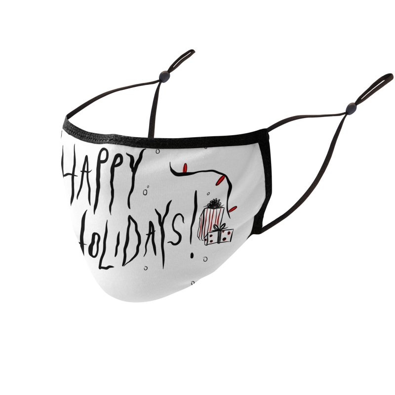 Happy Holidays Accessories Face Mask by Dripface