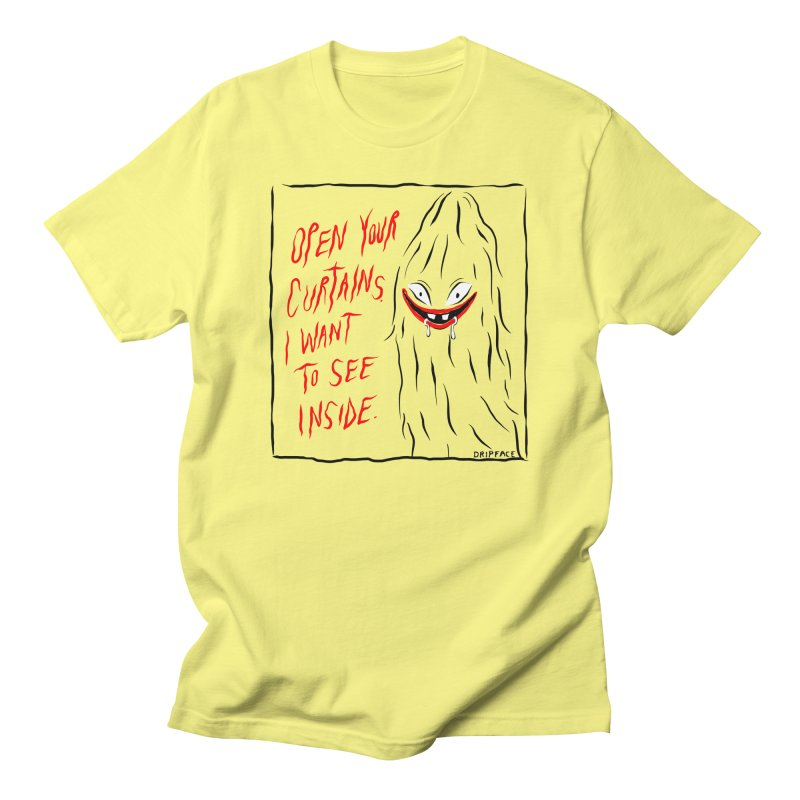 Curtains All Gender T-Shirt by Dripface