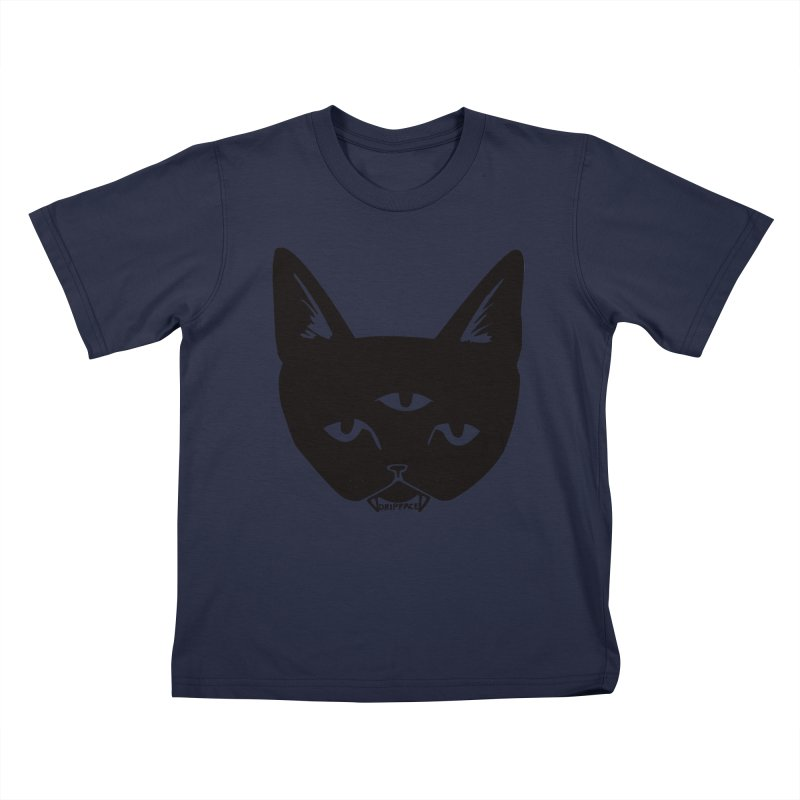 Three Eyed Cat Kids T-Shirt by Dripface