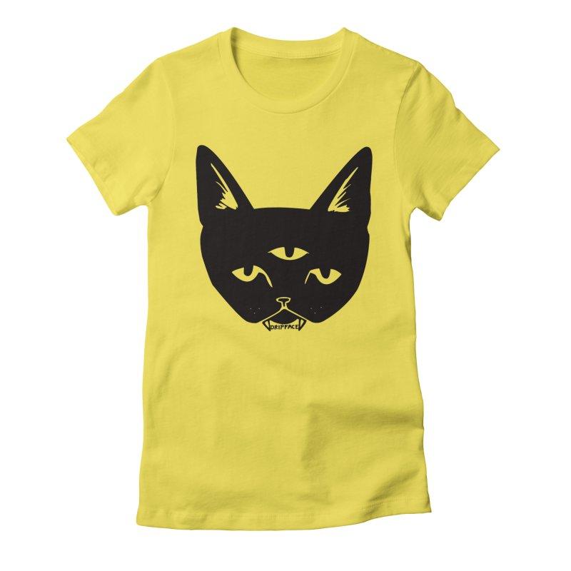 Three Eyed Cat Women's T-Shirt by Dripface