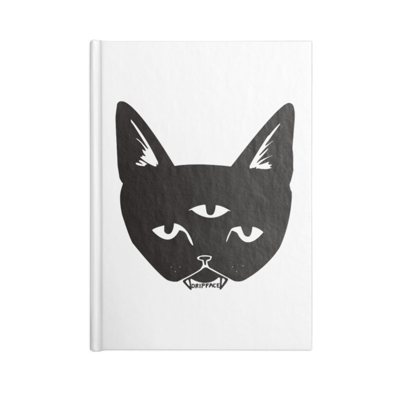 Three Eyed Cat Accessories Notebook by Dripface