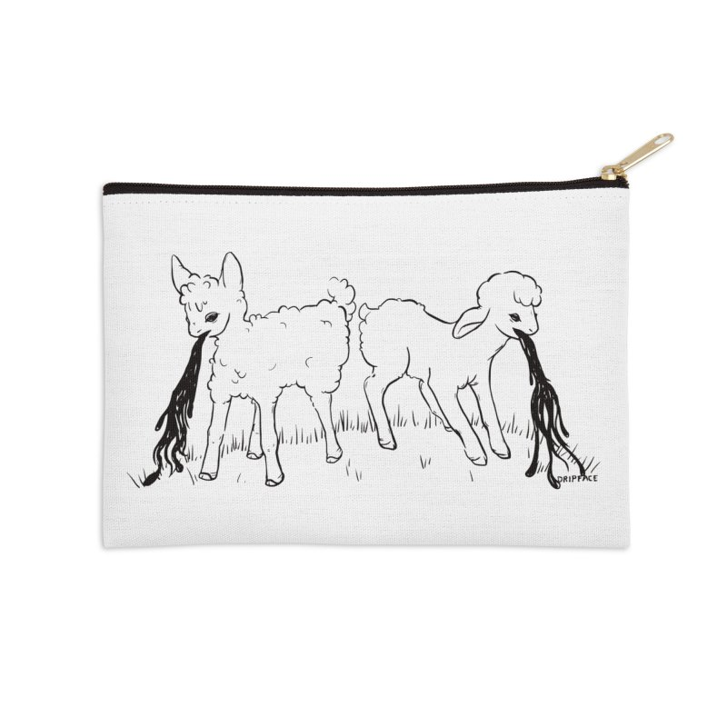 Two Sick Lambs Getting Sick Accessories Zip Pouch by Dripface