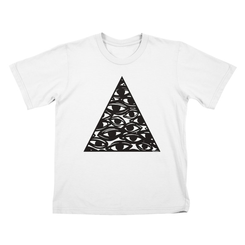 All Over Eyes Kids T-Shirt by Dripface