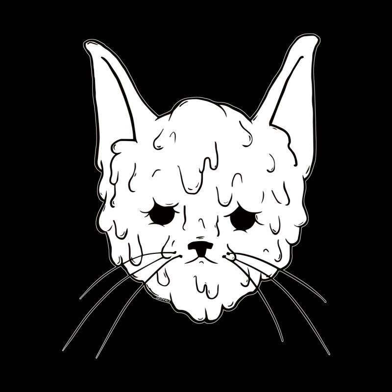 Slime Cat Kids T-Shirt by Dripface
