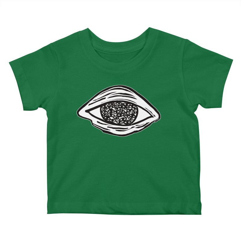 Eye In Eyes Kids Baby T-Shirt by Dripface