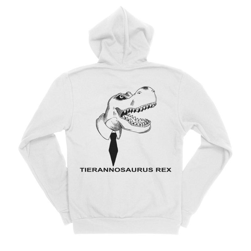 TIERANNOSARUS REX Men's Sponge Fleece Zip-Up Hoody by droidmonkey's Artist Shop