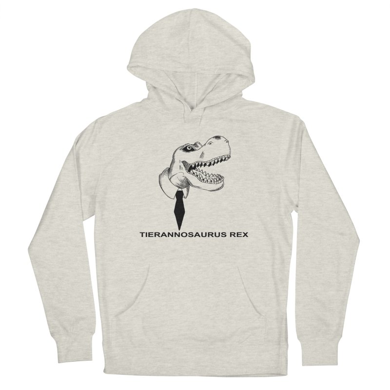 TIERANNOSARUS REX Men's French Terry Pullover Hoody by droidmonkey's Artist Shop