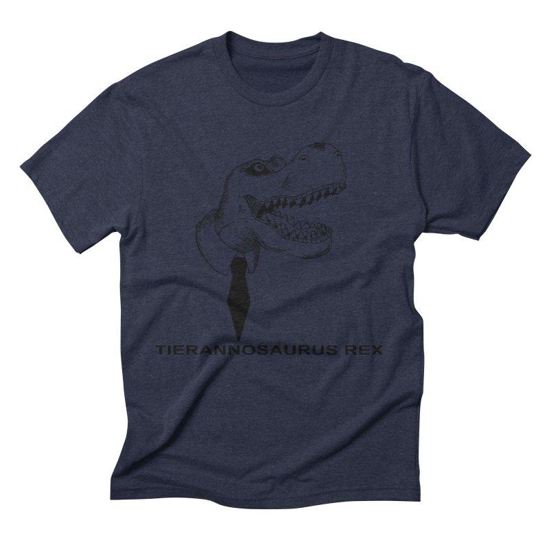 TIERANNOSARUS REX Men's Triblend T-Shirt by droidmonkey's Artist Shop