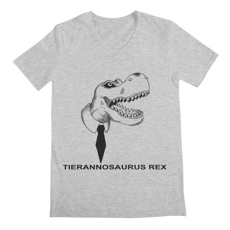 TIERANNOSARUS REX Men's Regular V-Neck by droidmonkey's Artist Shop