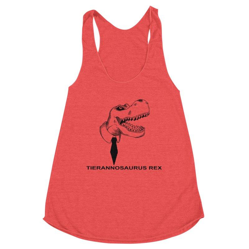 TIERANNOSARUS REX Women's Racerback Triblend Tank by droidmonkey's Artist Shop