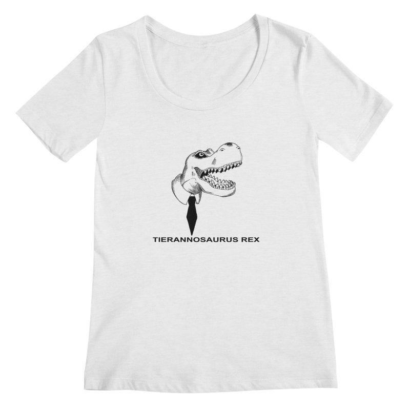 TIERANNOSARUS REX Women's Regular Scoop Neck by droidmonkey's Artist Shop