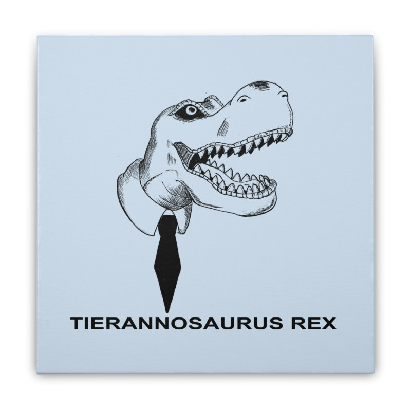 TIERANNOSARUS REX Home Stretched Canvas by droidmonkey's Artist Shop
