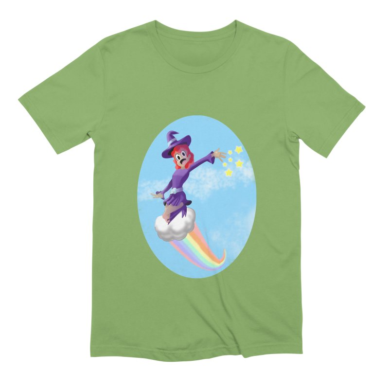 WITCH GIRL ON A CLOUD Men's Extra Soft T-Shirt by droidmonkey's Artist Shop