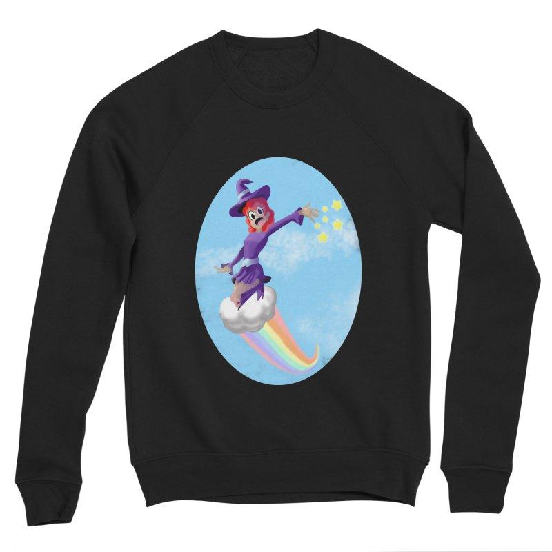 WITCH GIRL ON A CLOUD Men's Sponge Fleece Sweatshirt by droidmonkey's Artist Shop