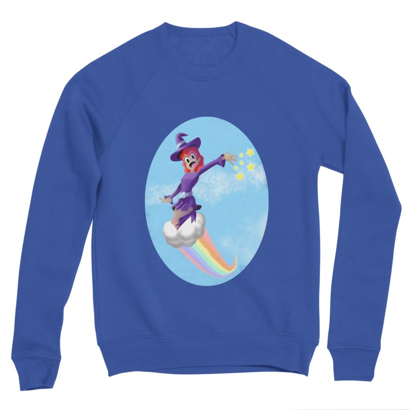 WITCH GIRL ON A CLOUD Men's Sponge Fleece Sweatshirt by droidmonkey's Artist Shop