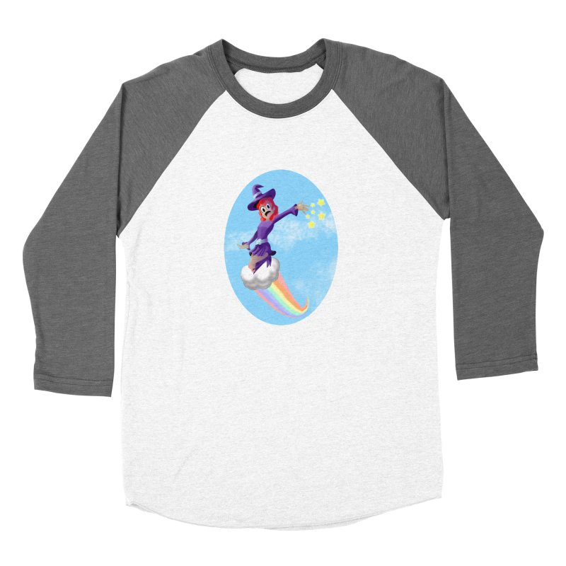 WITCH GIRL ON A CLOUD Women's Longsleeve T-Shirt by droidmonkey's Artist Shop