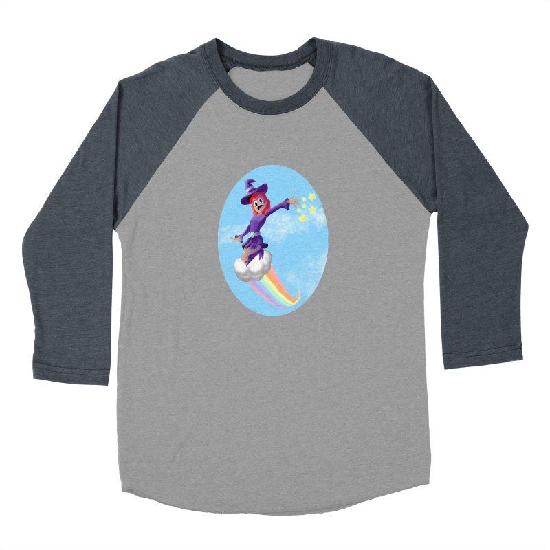 WITCH GIRL ON A CLOUD Women's Baseball Triblend Longsleeve T-Shirt by droidmonkey's Artist Shop