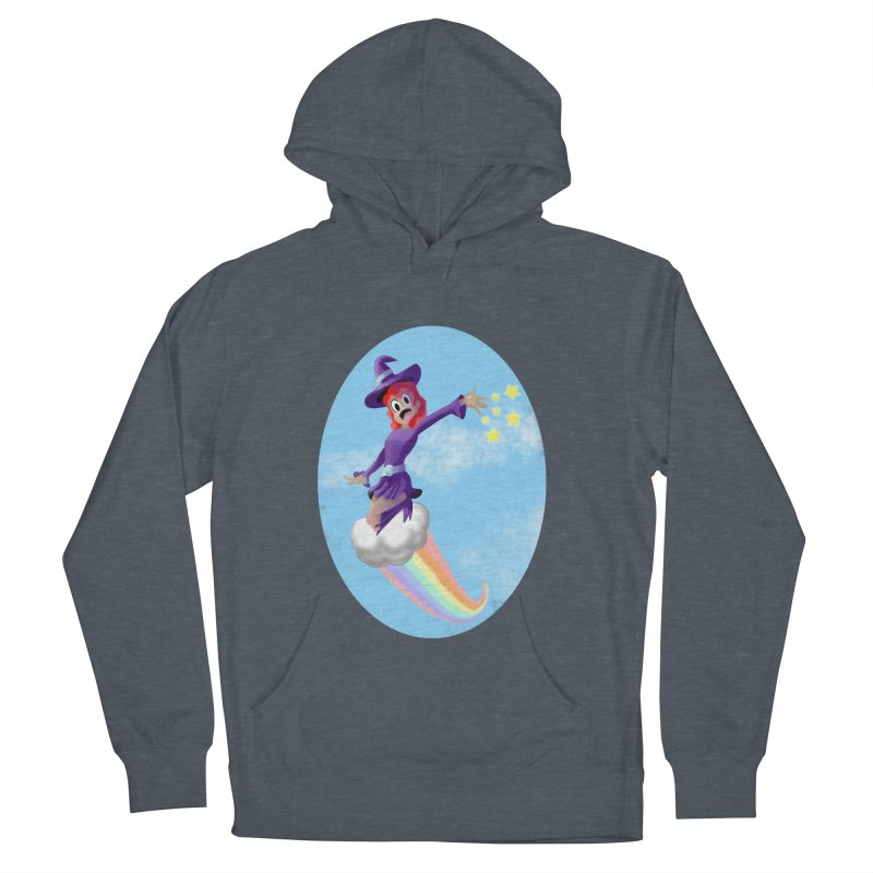 WITCH GIRL ON A CLOUD Women's French Terry Pullover Hoody by droidmonkey's Artist Shop