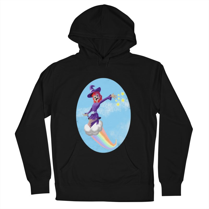 WITCH GIRL ON A CLOUD Men's French Terry Pullover Hoody by droidmonkey's Artist Shop
