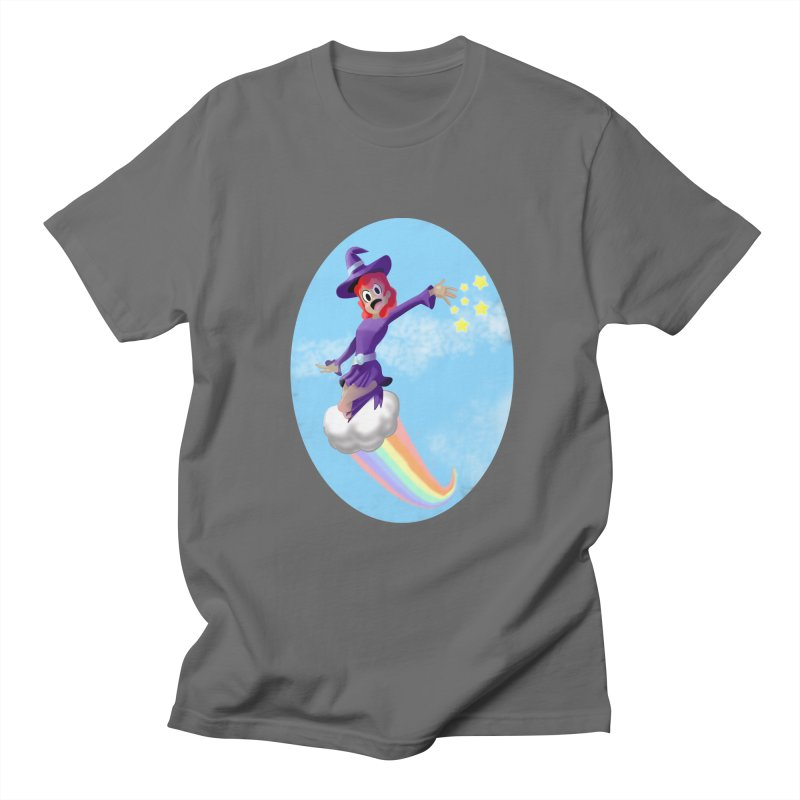 WITCH GIRL ON A CLOUD Men's T-Shirt by droidmonkey's Artist Shop