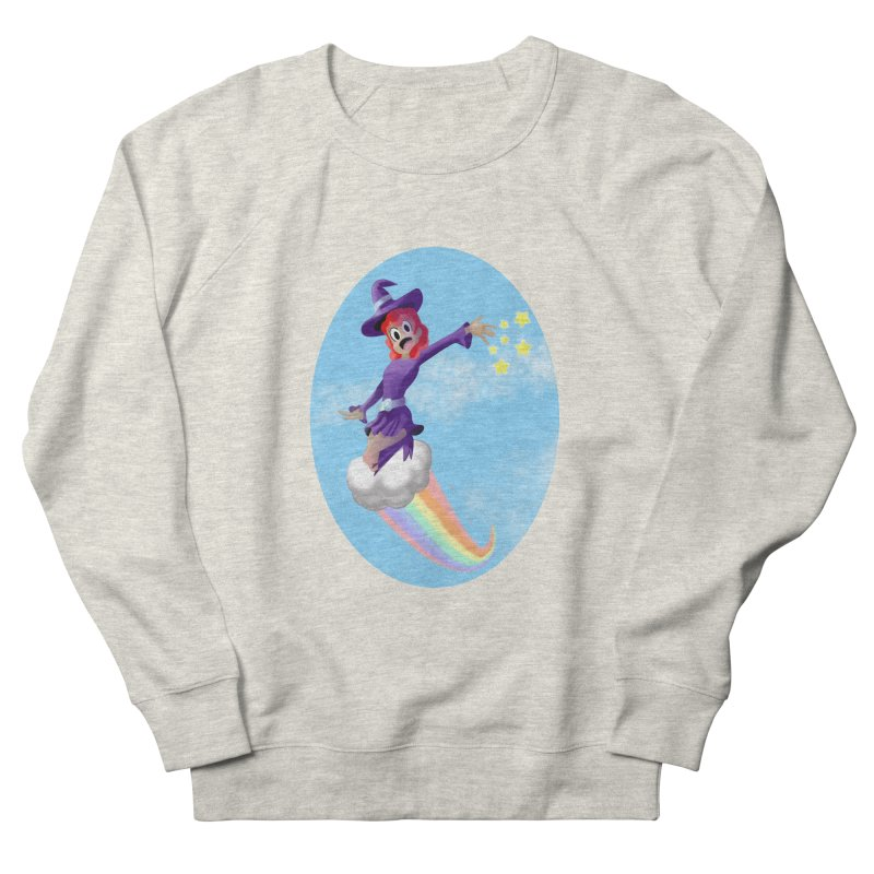 WITCH GIRL ON A CLOUD Women's French Terry Sweatshirt by droidmonkey's Artist Shop