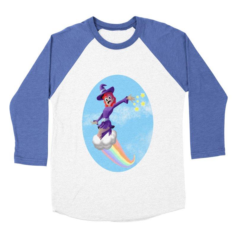 WITCH GIRL ON A CLOUD Men's Baseball Triblend Longsleeve T-Shirt by droidmonkey's Artist Shop