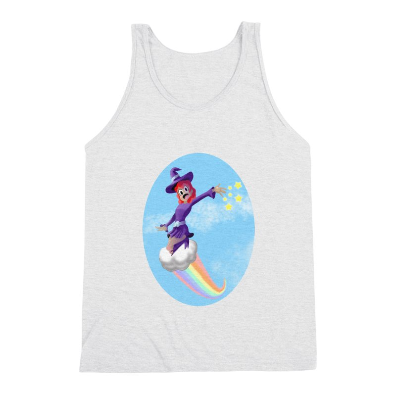 WITCH GIRL ON A CLOUD Men's Triblend Tank by droidmonkey's Artist Shop