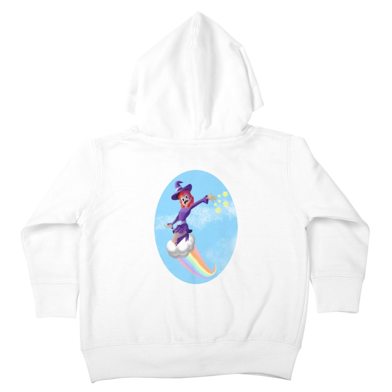 WITCH GIRL ON A CLOUD Kids Toddler Zip-Up Hoody by droidmonkey's Artist Shop