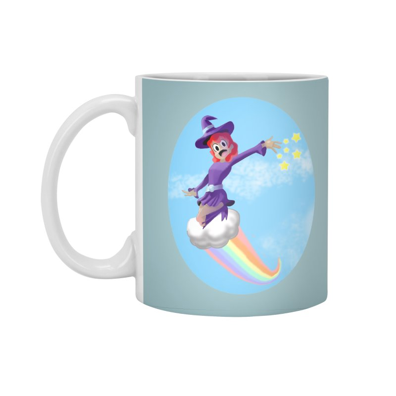 WITCH GIRL ON A CLOUD Accessories Standard Mug by droidmonkey's Artist Shop