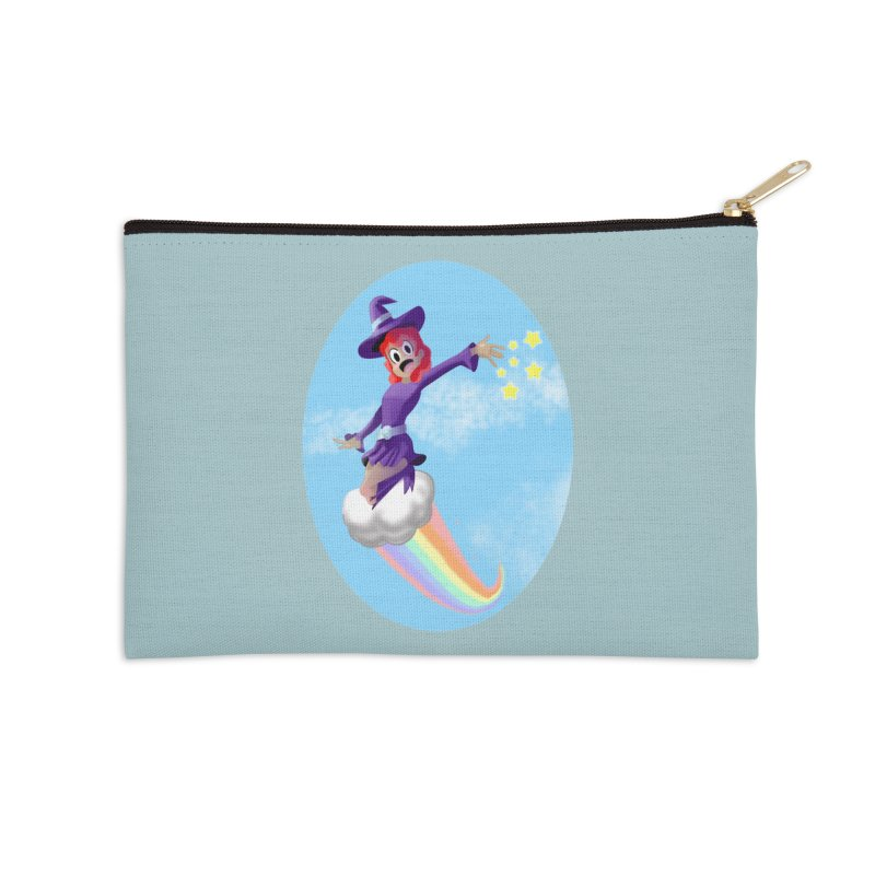 WITCH GIRL ON A CLOUD Accessories Zip Pouch by droidmonkey's Artist Shop