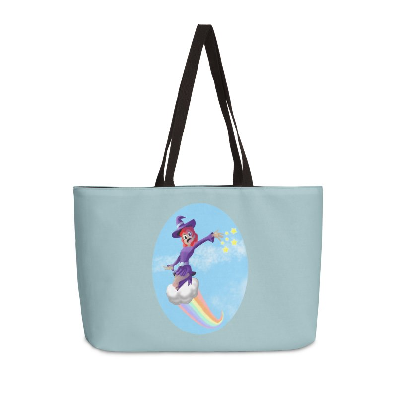 WITCH GIRL ON A CLOUD Accessories Weekender Bag Bag by droidmonkey's Artist Shop