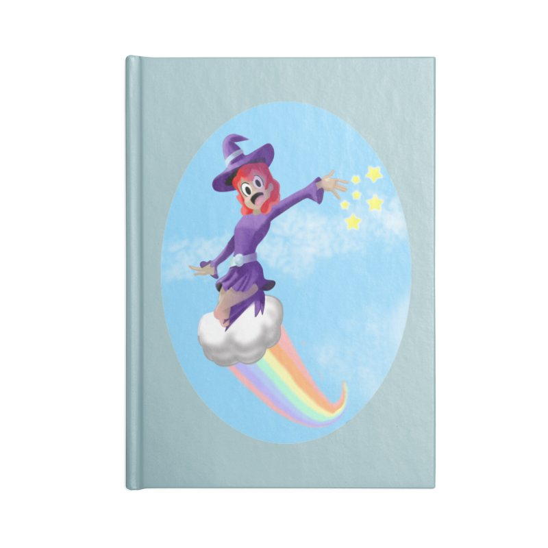 WITCH GIRL ON A CLOUD Accessories Lined Journal Notebook by droidmonkey's Artist Shop