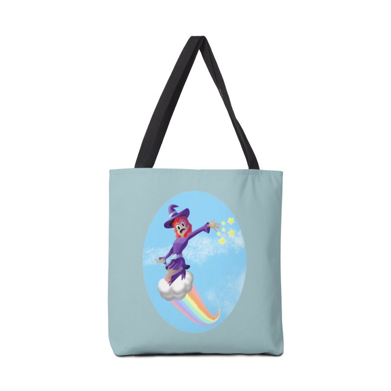 WITCH GIRL ON A CLOUD Accessories Tote Bag Bag by droidmonkey's Artist Shop