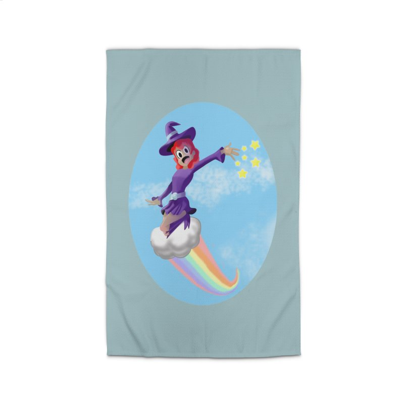 WITCH GIRL ON A CLOUD Home Rug by droidmonkey's Artist Shop