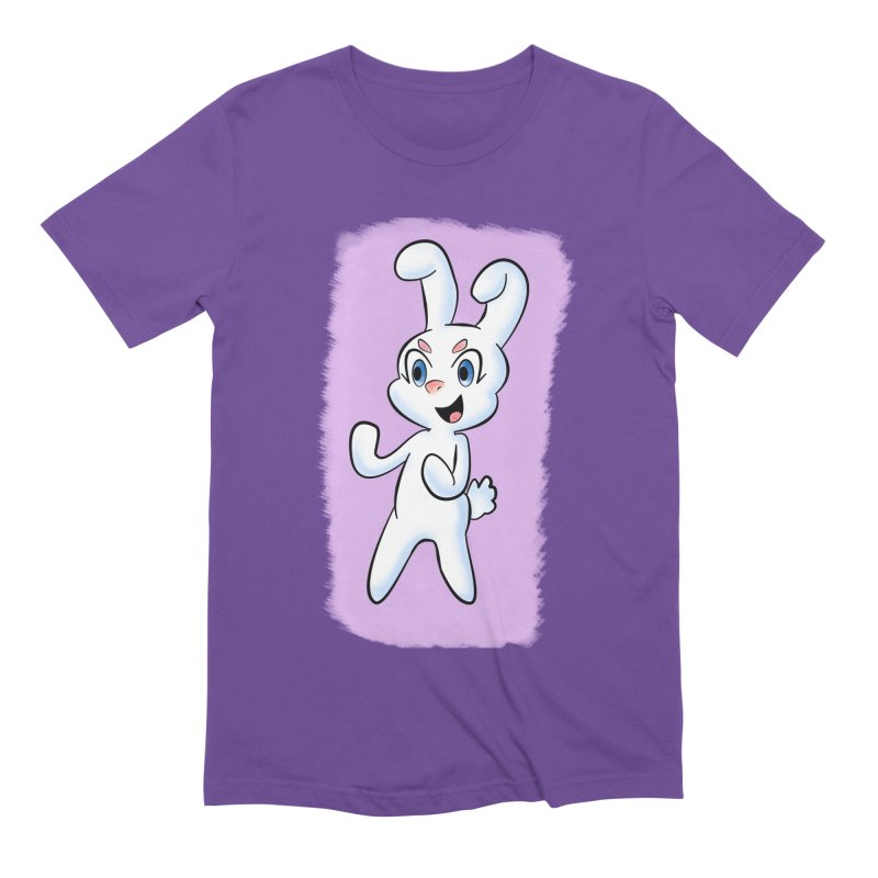CUTE RABBIT Men's Extra Soft T-Shirt by droidmonkey's Artist Shop