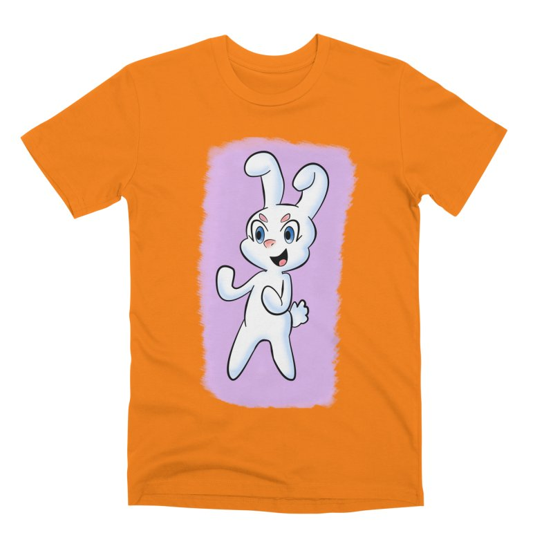 CUTE RABBIT Men's Premium T-Shirt by droidmonkey's Artist Shop