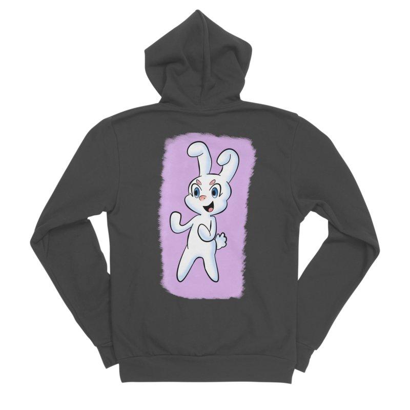 CUTE RABBIT Women's Sponge Fleece Zip-Up Hoody by droidmonkey's Artist Shop