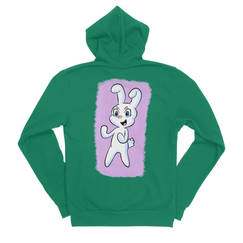 CUTE RABBIT Men's Sponge Fleece Zip-Up Hoody by droidmonkey's Artist Shop