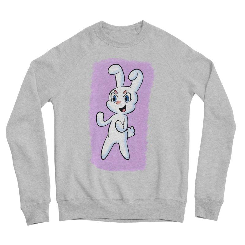 CUTE RABBIT Women's Sponge Fleece Sweatshirt by droidmonkey's Artist Shop