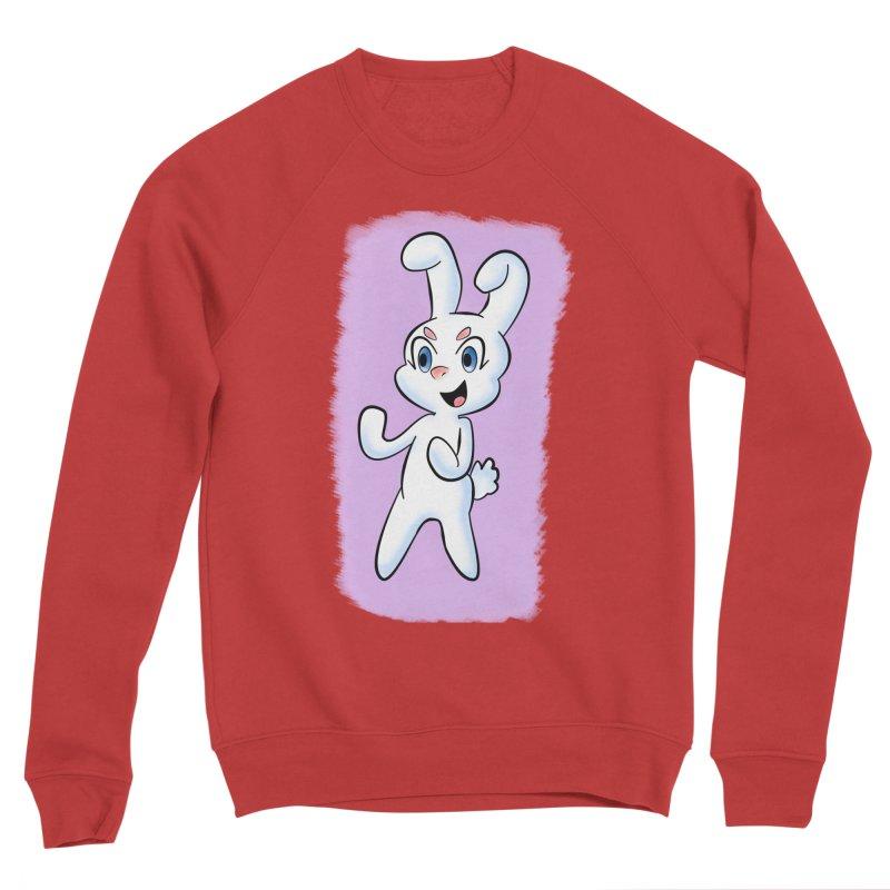 CUTE RABBIT Men's Sponge Fleece Sweatshirt by droidmonkey's Artist Shop