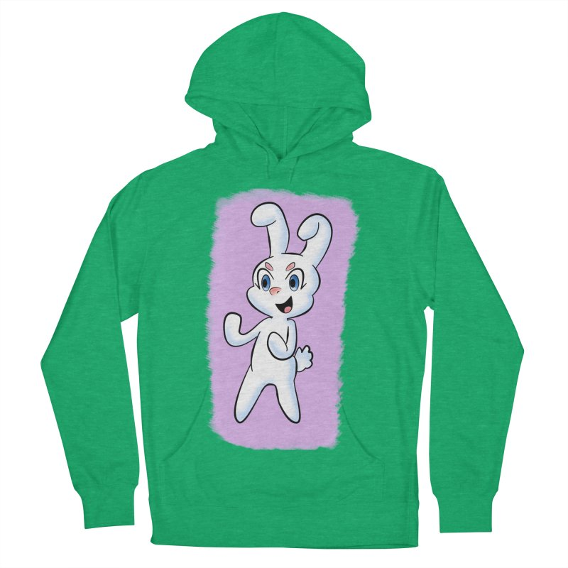 CUTE RABBIT Men's French Terry Pullover Hoody by droidmonkey's Artist Shop