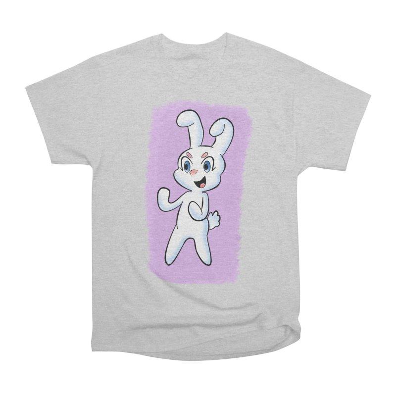 CUTE RABBIT Men's Heavyweight T-Shirt by droidmonkey's Artist Shop